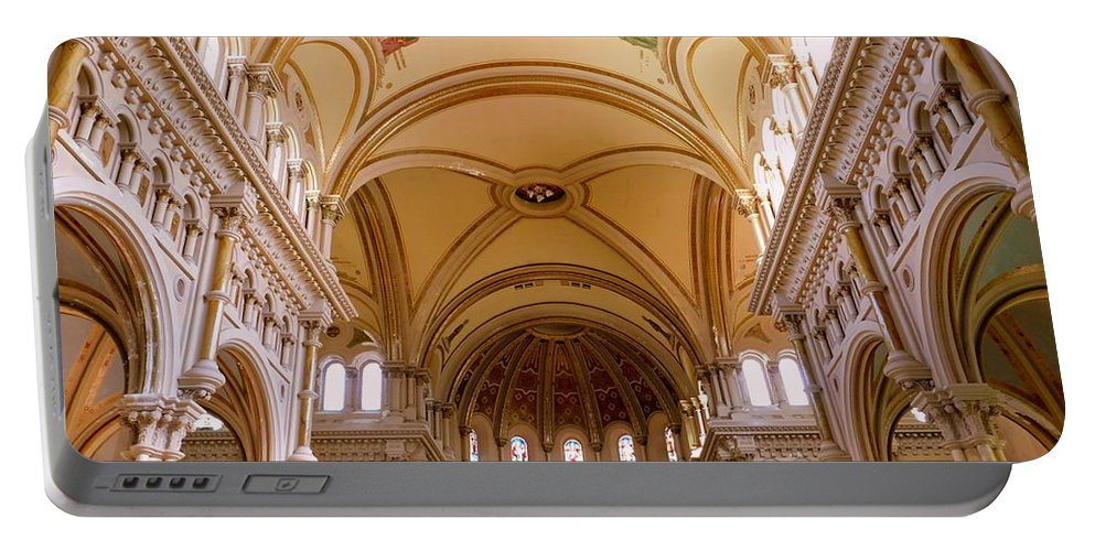 Architecture Portable Battery Charger featuring the photograph St. Nicholas Of Tolentine Church - II by Arlane Crump