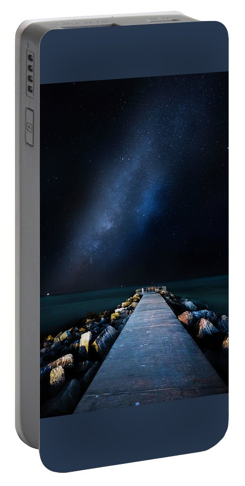 Galaxy Portable Battery Charger featuring the photograph St. Pete Night by Marvin Spates