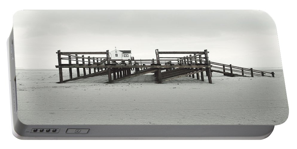 Andscape Portable Battery Charger featuring the photograph St. Peter Ording 2 by Heike Hultsch