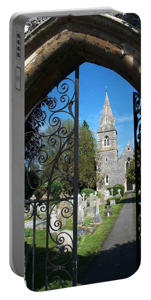 St Portable Battery Charger featuring the photograph St Peters Marlow by Chris Day