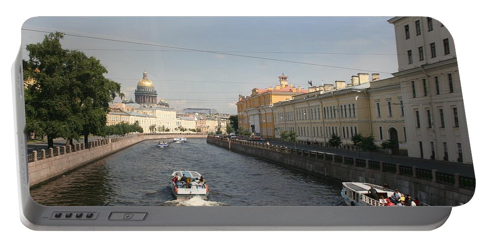 Canal Portable Battery Charger featuring the photograph St. Petersburg Canal - Russia by Christiane Schulze Art And Photography