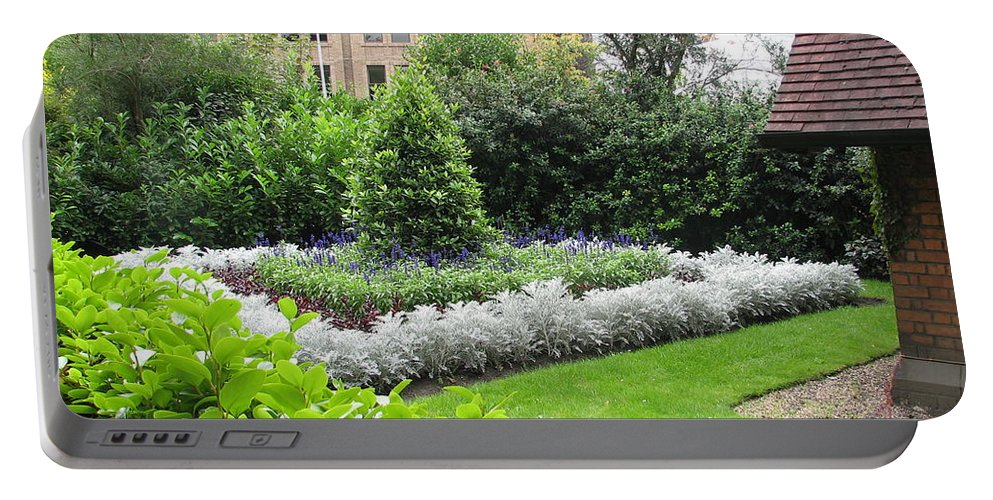 Ireland Portable Battery Charger featuring the photograph St. Stephen's Garden by Kelly Mezzapelle