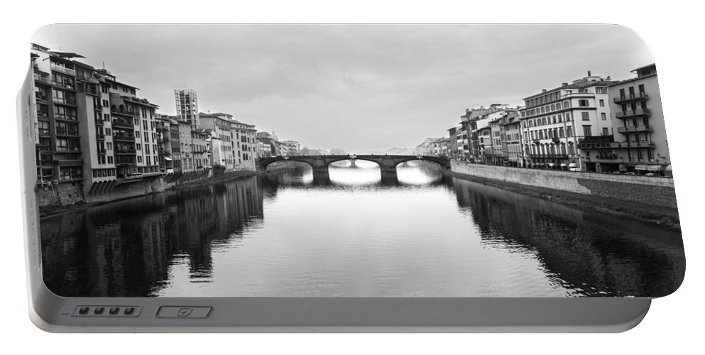 2011 Portable Battery Charger featuring the photograph St. Trinity Bridge, Florence by Jovanni Casaus