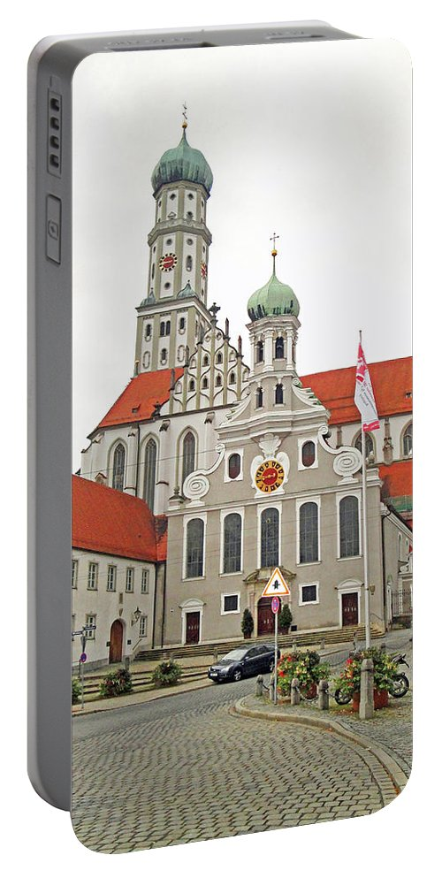 St. Ulrich's Portable Battery Charger featuring the photograph St. Ulrich's And St. Afra's Abbey by Robert Meyers-Lussier