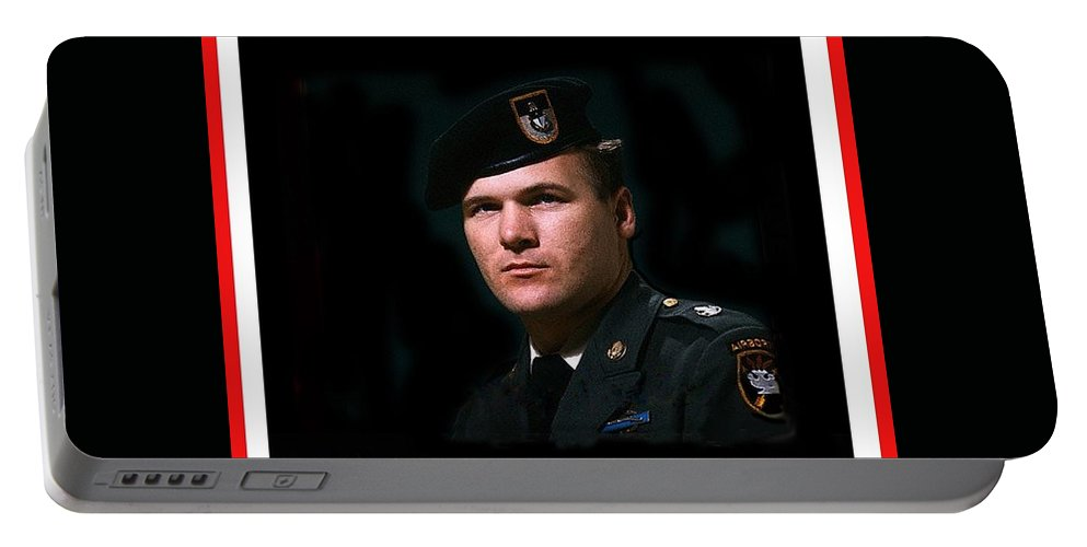 Staff Sergeant Barry Sadler In Uniform R.i.p. Circa 1965-2016 Portable Battery Charger featuring the photograph Staff Sergeant Barry Sadler In Uniform R.i.p. Circa 1965-2016 by David Lee Guss