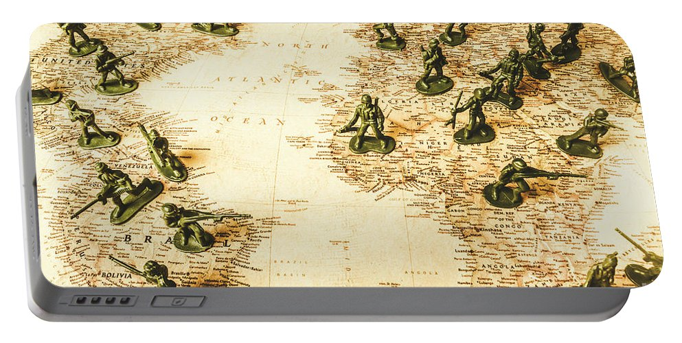 World Portable Battery Charger featuring the photograph Staged World War by Jorgo Photography - Wall Art Gallery