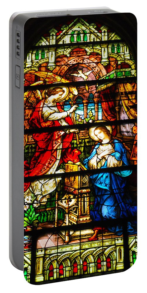 Cape May Portable Battery Charger featuring the photograph Stained Glass - Cape May by Bill Cannon