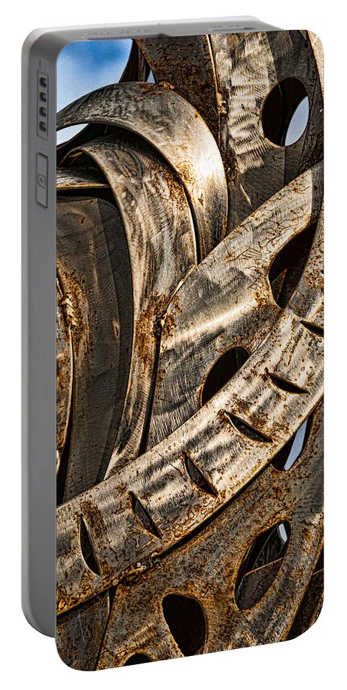 Stainless Portable Battery Charger featuring the photograph Stainless Abstract by Christopher Holmes