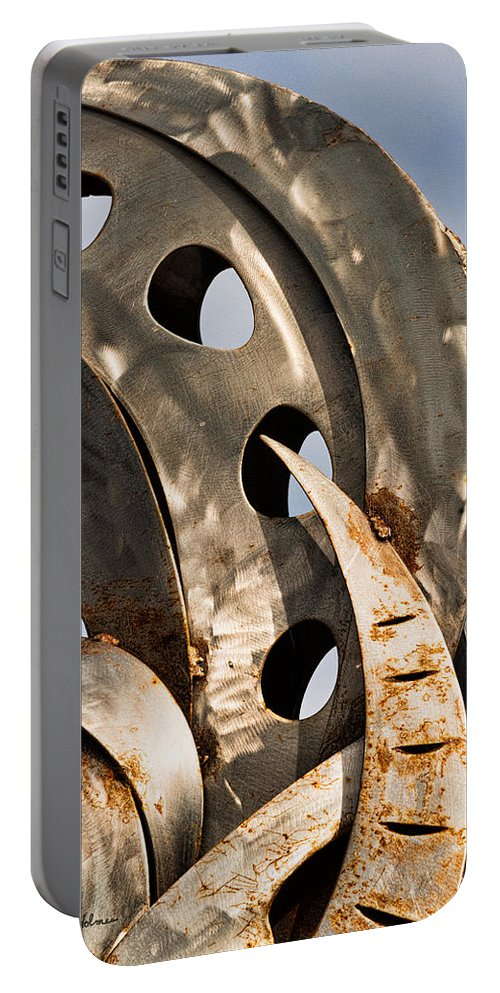 Stainless Portable Battery Charger featuring the photograph Stainless Abstract II by Christopher Holmes