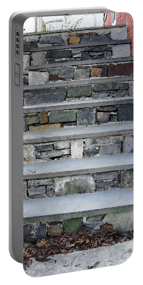 Stairs Portable Battery Charger featuring the photograph Stairs To The Plague House by RC DeWinter