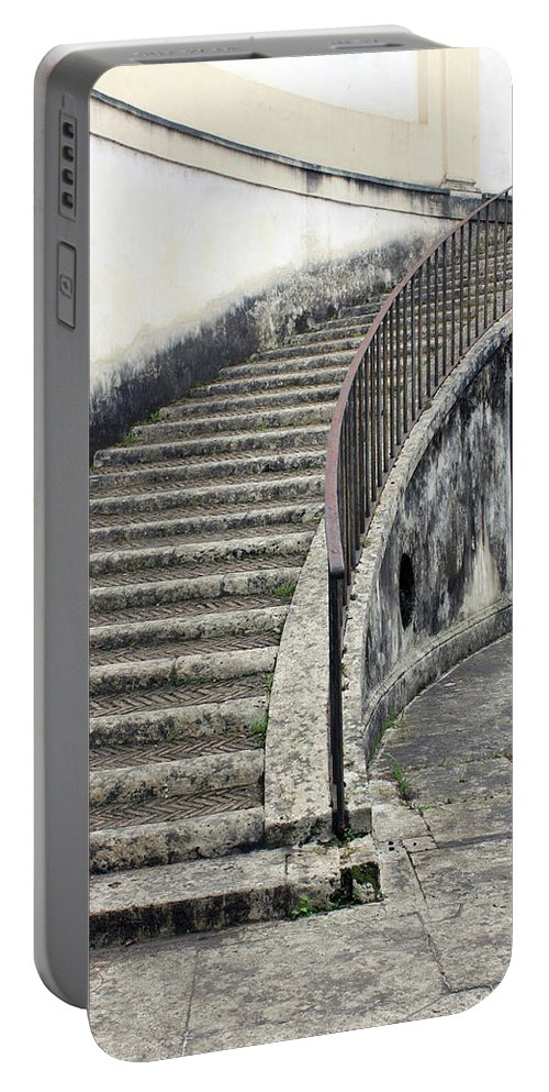 Stair Portable Battery Charger featuring the photograph Stairs To Underground by Munir Alawi