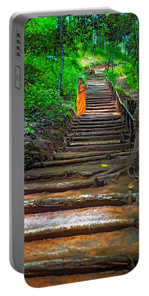 Jungle Portable Battery Charger featuring the photograph Stairway To Heaven by Steve Harrington