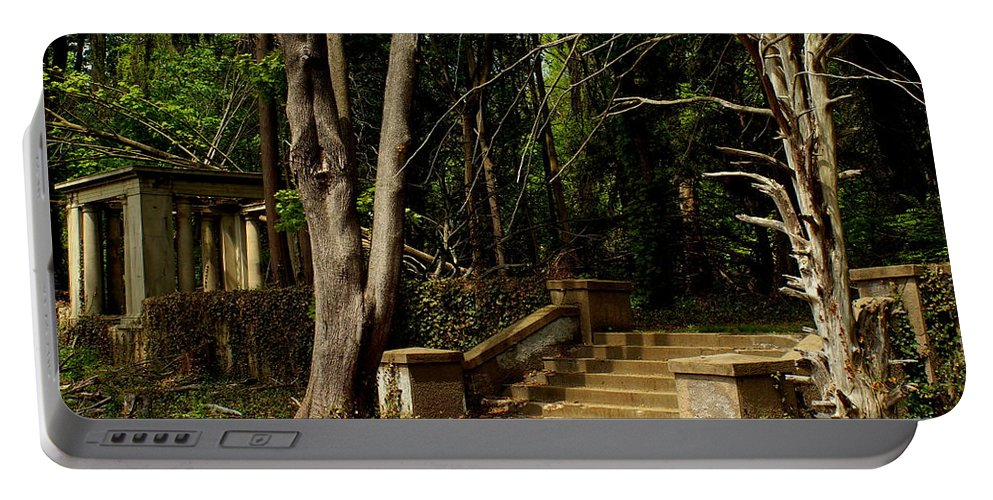 Muttontown Portable Battery Charger featuring the photograph Stairway To Nowhere by John Wall
