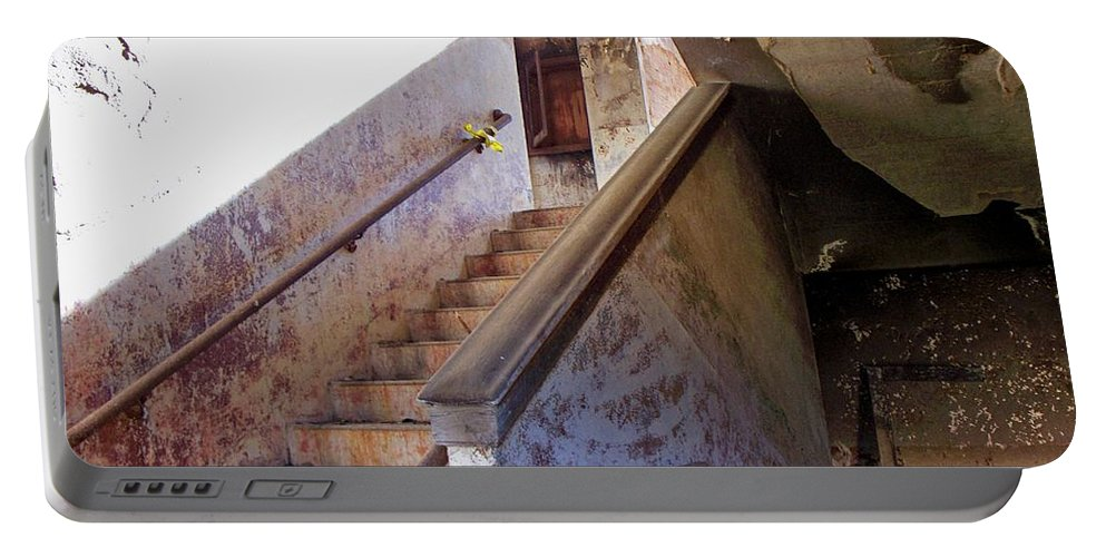 Stair Portable Battery Charger featuring the photograph Stairway To Yesterday by Betty Northcutt