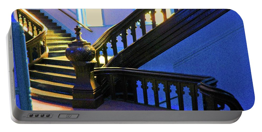 University Of Tampa Portable Battery Charger featuring the photograph Stairwell Of Color by Jost Houk