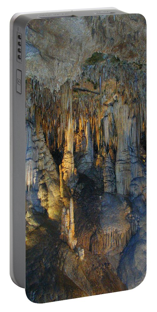 Stalactites Portable Battery Charger featuring the photograph Stalactite Artistry by Andrea Freeman