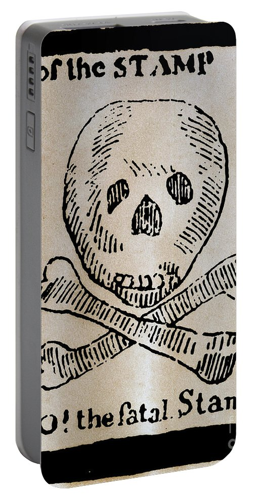 1765 Portable Battery Charger featuring the photograph Stamp Act: Cartoon, 1765 by Granger
