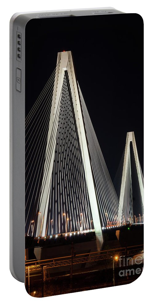 America Portable Battery Charger featuring the photograph Stan Musial Veterans Bridge by Jennifer White