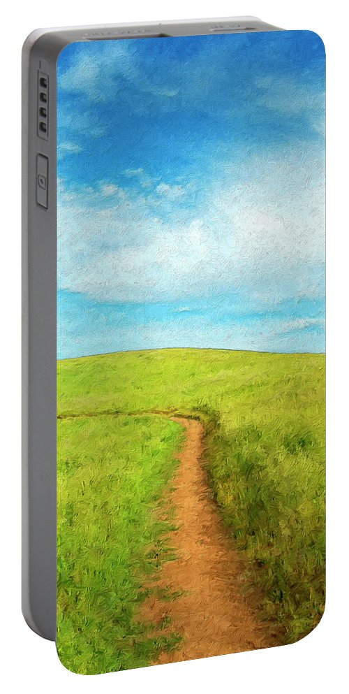 Stand By Me Portable Battery Charger featuring the painting Stand By Me by Dominic Piperata