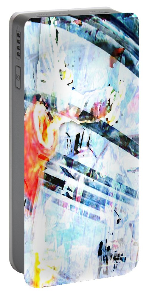 Hip-hop Portable Battery Charger featuring the digital art Stand by Ken Walker