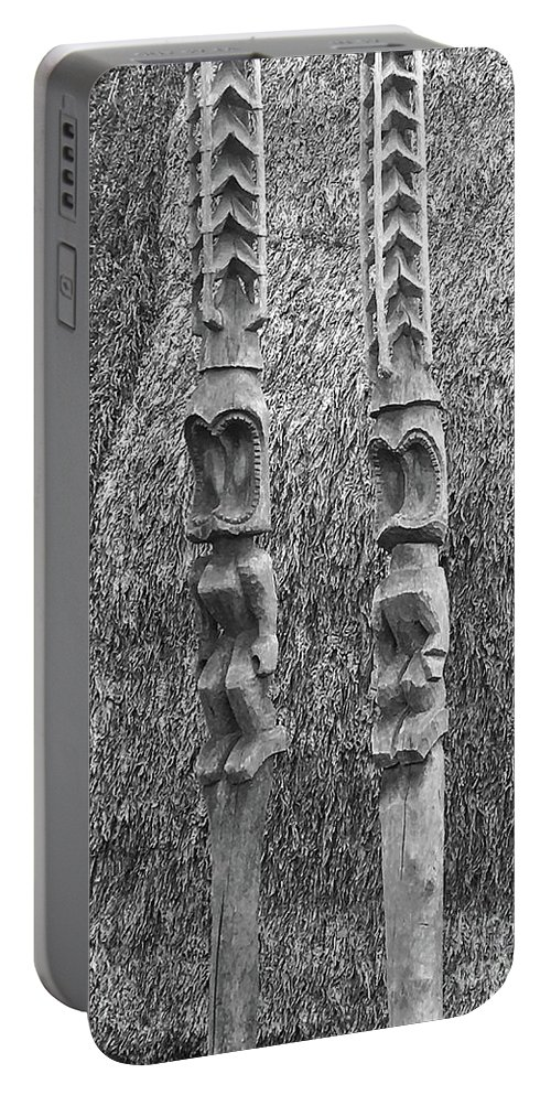 Tiki Portable Battery Charger featuring the photograph Standing Guard by Viki Velazquez