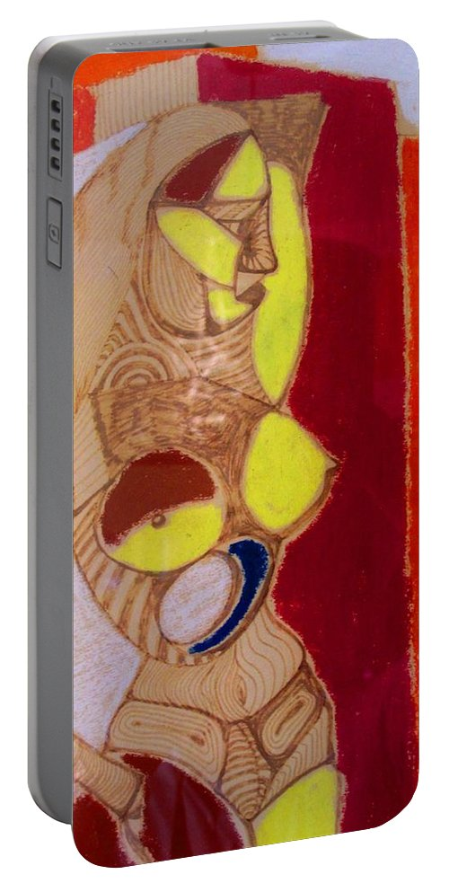 Nude Portable Battery Charger featuring the drawing Standing by Ian MacDonald