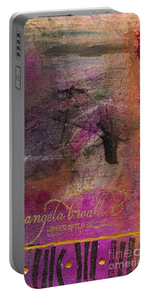 Woman Portable Battery Charger featuring the mixed media Standing In The Wind by Angela L Walker