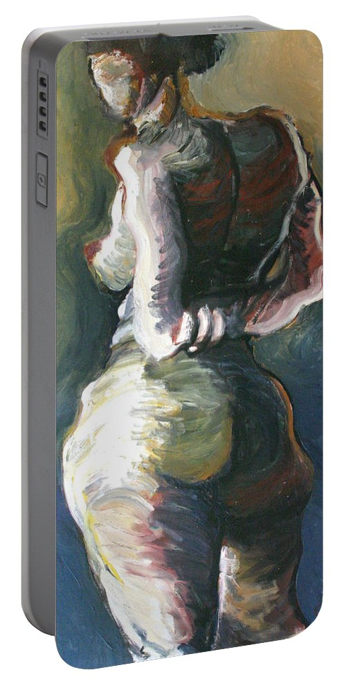 Drawing Portable Battery Charger featuring the painting Standing Nude I by Gideon Cohn