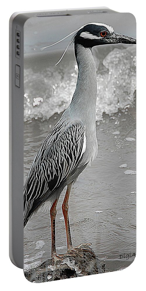 Bird Portable Battery Charger featuring the digital art Standing Proud by DigiArt Diaries by Vicky B Fuller