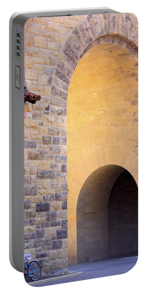 Stanford University Portable Battery Charger featuring the photograph Stanford Arches by Linda Dunn