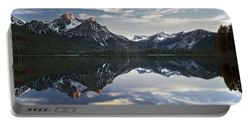 Altitude Portable Battery Charger featuring the photograph Stanley Lake by Leland D Howard
