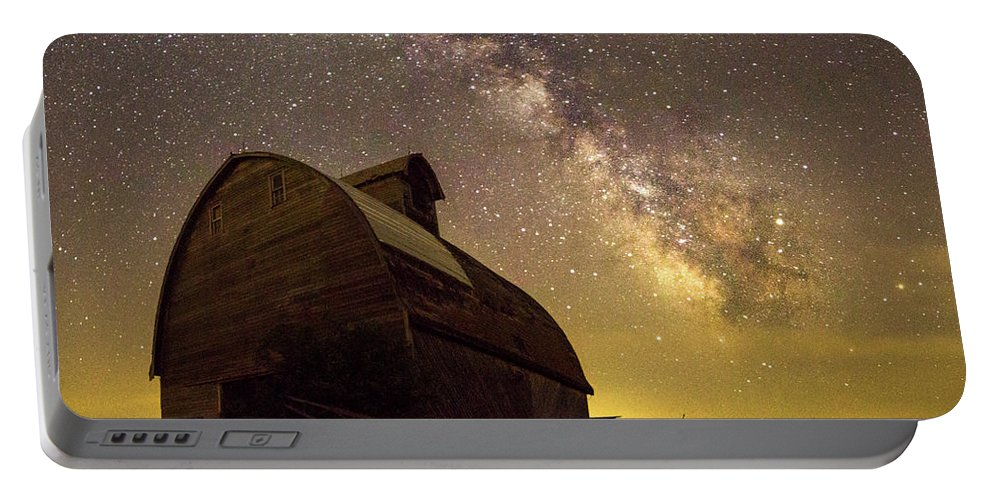 Barn Portable Battery Charger featuring the photograph Star Barn by AllScapes Photography