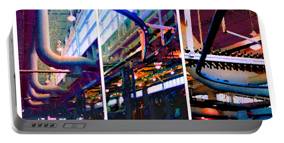 Abstract Portable Battery Charger featuring the photograph Star Factory by Steve Karol