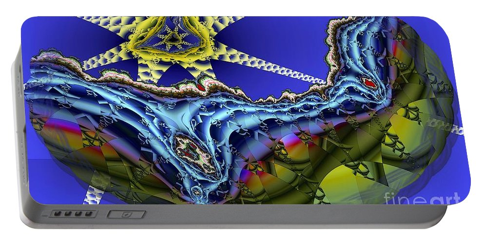 Star Fish Portable Battery Charger featuring the digital art Star Fish by Ron Bissett