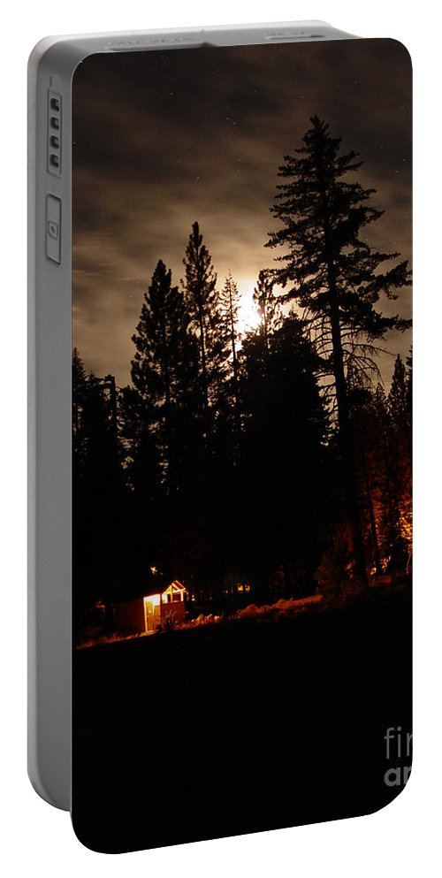 Moonlight Portable Battery Charger featuring the photograph Star Lit Camp by Peter Piatt