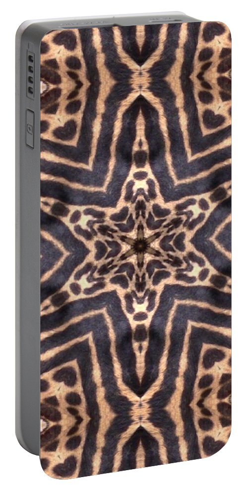 Digital Portable Battery Charger featuring the Star Of Cheetah by Maria Watt