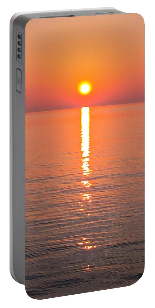 Lake Michigan Portable Battery Charger featuring the photograph Star Of Saugatuck On Lake Michgan by Dan McCafferty
