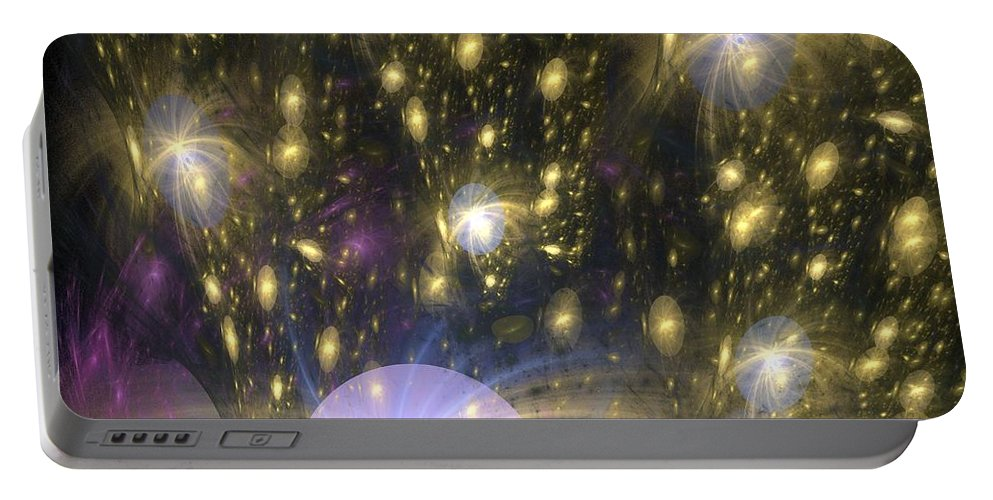 Apophysis Portable Battery Charger featuring the digital art Star Particles by Kim Sy Ok