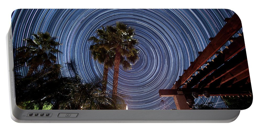 Star Trails Portable Battery Charger featuring the photograph Star Party by Philip Cruden
