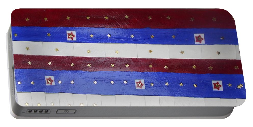 Stars Portable Battery Charger featuring the photograph Star Spangled Banner by Nancy Graham