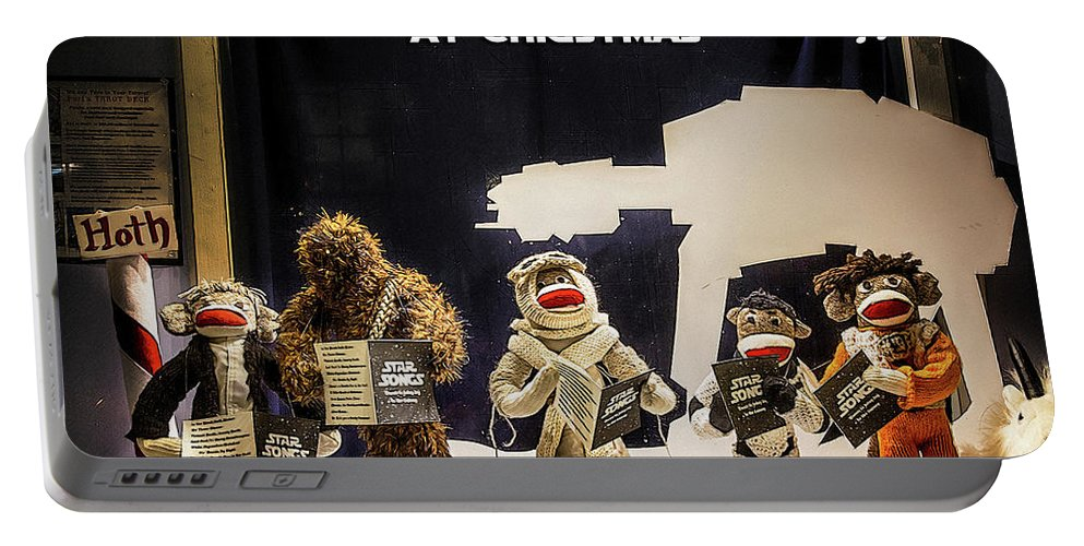 Christmas Portable Battery Charger featuring the photograph Star Wars Christmas Card by John Haldane