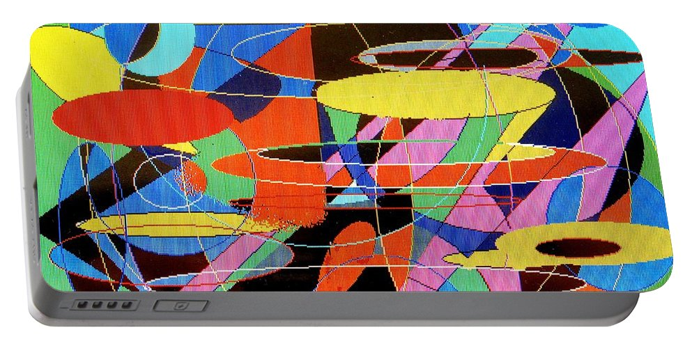 Abstract Portable Battery Charger featuring the digital art Star Wars by Ian MacDonald