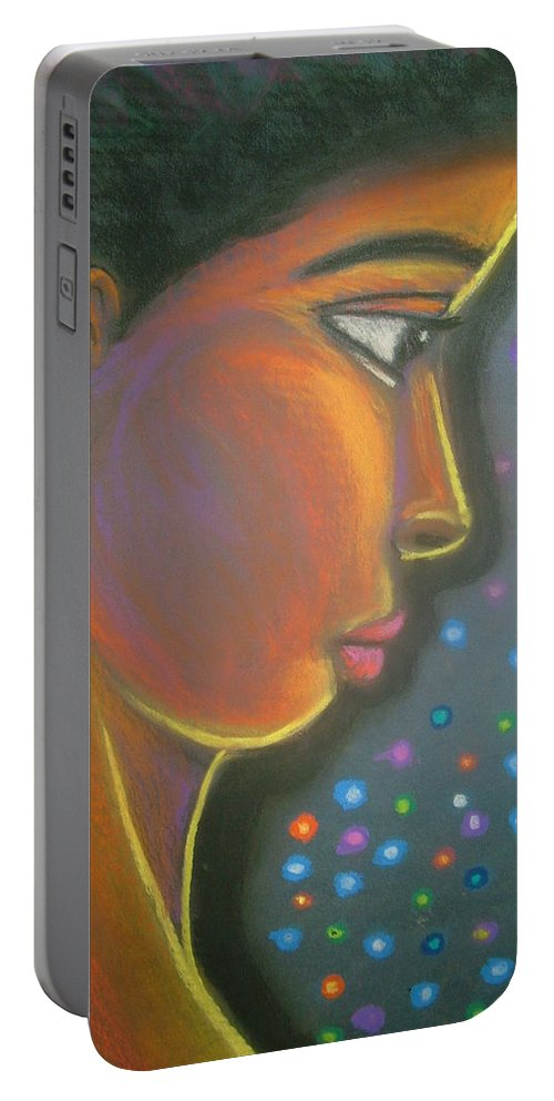 Portable Battery Charger featuring the drawing Starbrite by Jan Gilmore