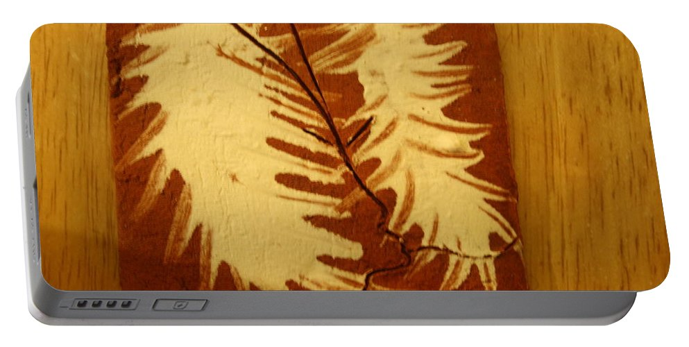Jesus Portable Battery Charger featuring the ceramic art Starcrossed - Tile by Gloria Ssali