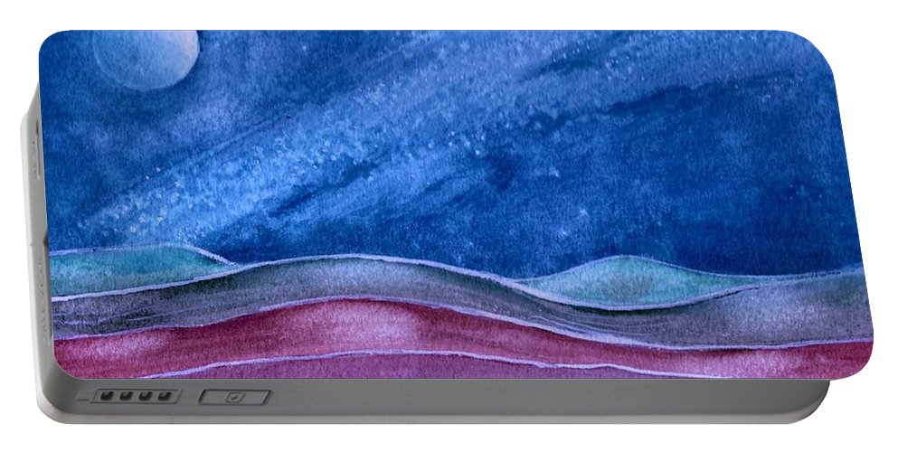 Landscape Portable Battery Charger featuring the painting Stardust by Brenda Owen