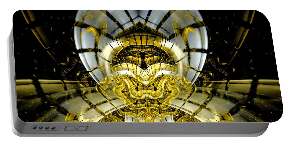 Fractal Portable Battery Charger featuring the digital art Stargate Electra by Amorina Ashton