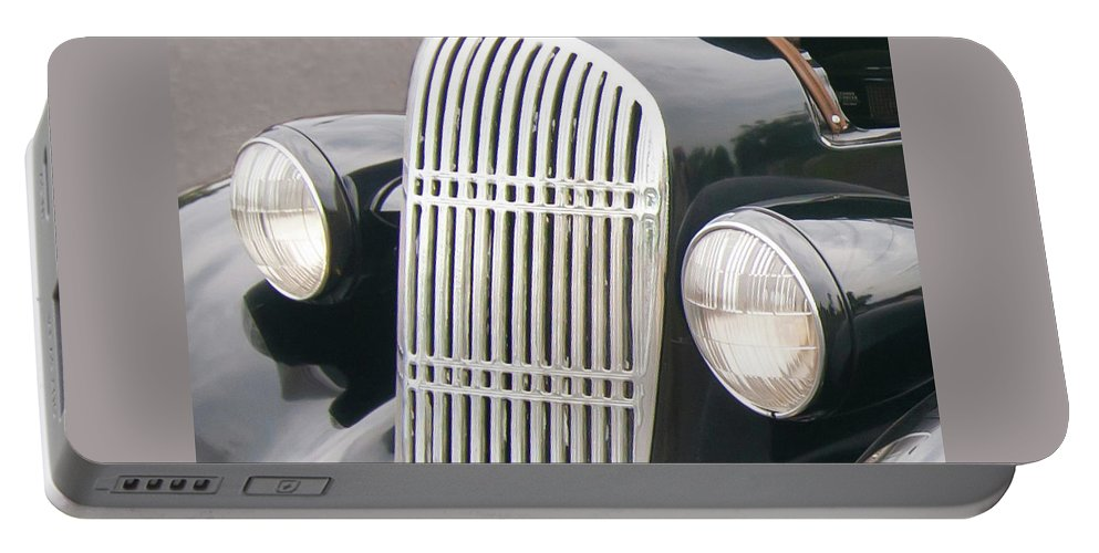 Antique Car Portable Battery Charger featuring the photograph Staring 1998 by Guy Whiteley