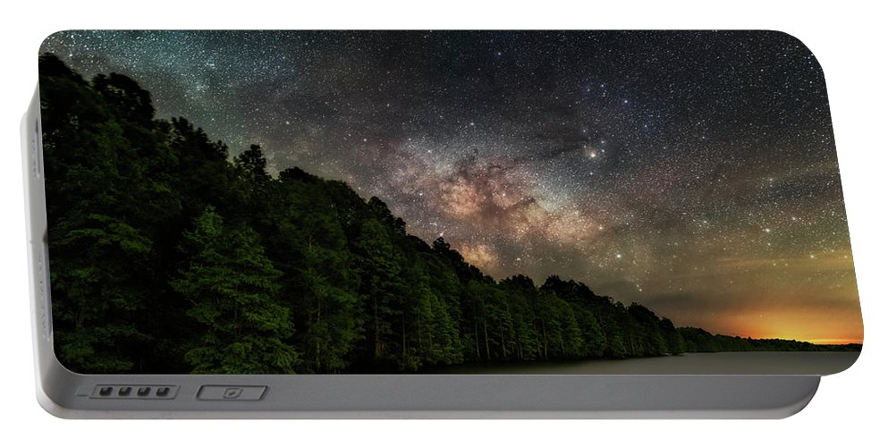 Starlight Swimming Portable Battery Charger featuring the photograph Starlight Swimming by Russell Pugh
