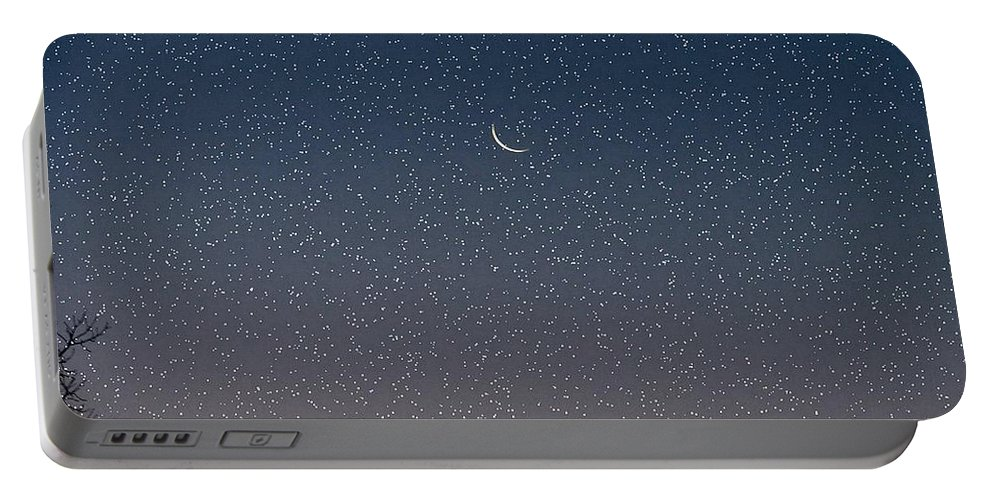 Portable Battery Charger featuring the photograph Starry Morning Sky by Luciana Seymour