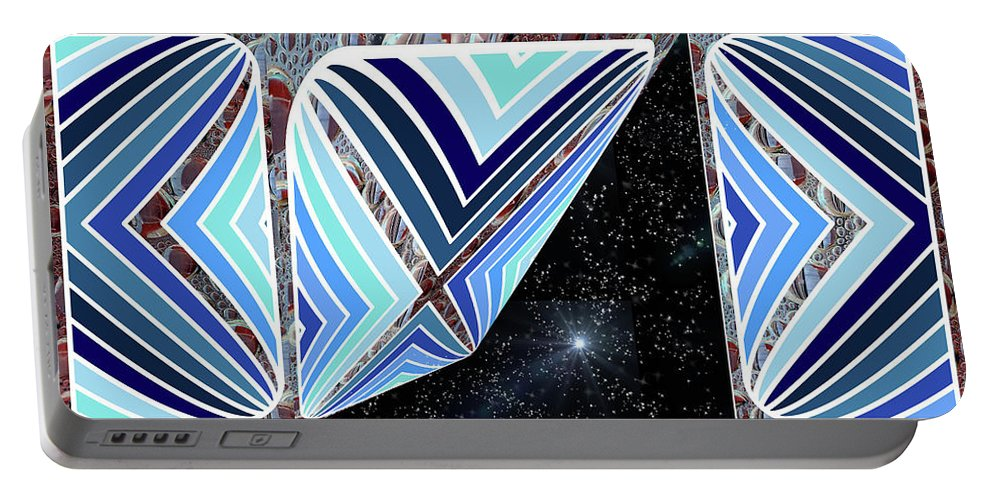 Stars Portable Battery Charger featuring the digital art Stars Outside by Ericamaxine Price